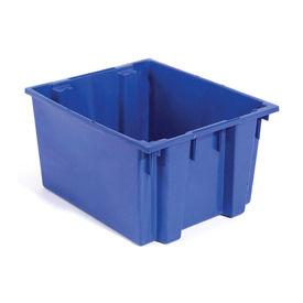 """Akro-Mils Nest & Stack Tote 35225 - 23-1/2""""L x 19-1/2""""W x 10""""H, Blue - Pkg Qty 6"""