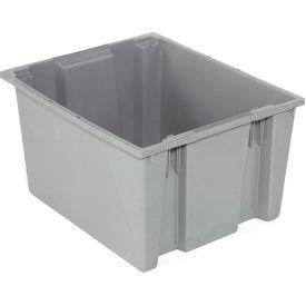 "Akro-Mils Nest & Stack Tote 35225 - 23-1/2""L x 19-1/2""W x 10""H, Gray - Pkg Qty 6"