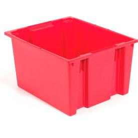 "Akro-Mils Nest & Stack Tote 35225 - 23-1/2""L x 19-1/2""W x 10""H, Red - Pkg Qty 6"