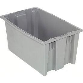 "Akro-Mils Nest & Stack Tote 35185 - 18""L x 11""W x 9""H, Gray - Pkg Qty 6"