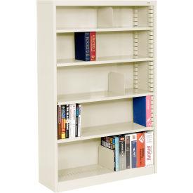 """Quick Adjust Steel Bookcase - 60""""H Putty"""