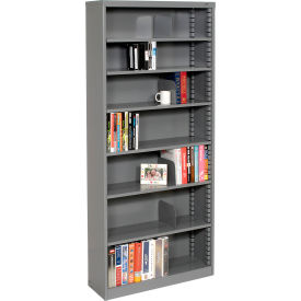 "Quick Adjust Steel Bookcase - 84""H Gray"
