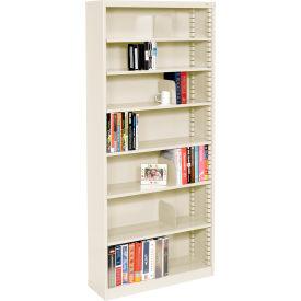 """Quick Adjust Steel Bookcase - 84""""H Putty"""