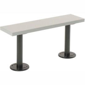 "Plastic Locker Bench with PVC Plastic Pedestals Bolt Down 9-1/4"" X 84"" X 16-1/2"""