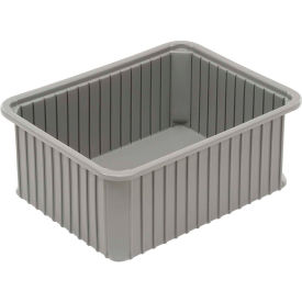 "Dandux Dividable Stackable Plastic Box 50P0114070 - 22-1/2""L x 17-1/2""W x 7""H, Gray"