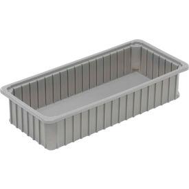"Dandux Dividable Stackable Plastic Box 50P0224050 -  24""L x 11""W x 5""H, Gray"