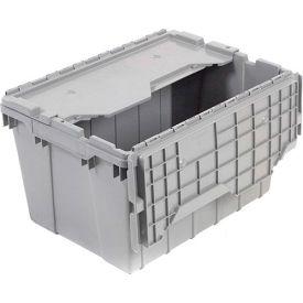 "Akro-Mils Attached Lid Container 39170GREY - 21-1/2""L x 15'W x 17""H - Pkg Qty 3"