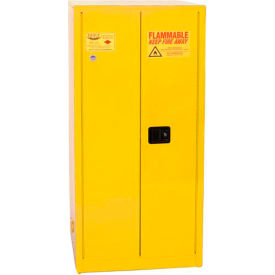 Eagle Paint/Ink Safety Cabinet with Manual Close- 96 Gallon Yellow