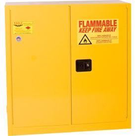Eagle Flammable Cabinet with Self Close Bi-Fold Double Door 30 Gallon