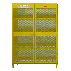 "Jamco Cylinder Storage Cabinet CH160 - Horizontal Double Door 16 Cylinders - 64""W x 40""D x 71""H"