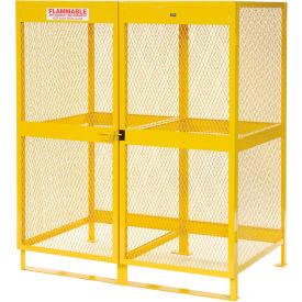 "Global™ Cylinder Storage Cabinet - Vertical Double Door 20 Cylinders - 64""W x 40""D x 71""H"