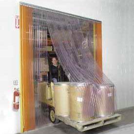 Scratch Resistant Strip Door Curtain 7'W x 7'H