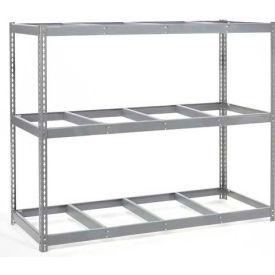 "Wide Span Rack 96""W x 48""D x 96""H With 3 Shelves No Deck 1100 Lb Capacity Per Level"