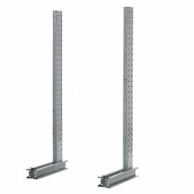 """Cantilever Rack Single Sided Upright, 45"""" D x 8' H, 4600 Lbs Capacity"""