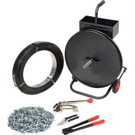 "Steel Strapping Kit 1/2"" x 2,940' Coil With Tensioner, Sealer, Seals & Cart"