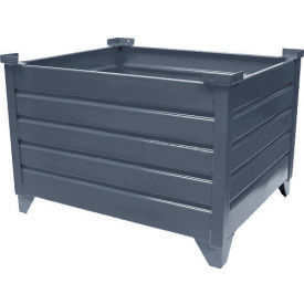 """Topper Stackable Steel Container 51021 Solid, 30""""L x 24""""W x 24""""H, Unpainted"""