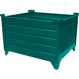 """Topper Stackable Steel Container 51004G Solid, 48""""L x 42""""W x 18""""H, Green"""