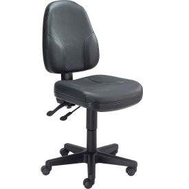 Operator Leather Chair Multifunctional Height Adjustment