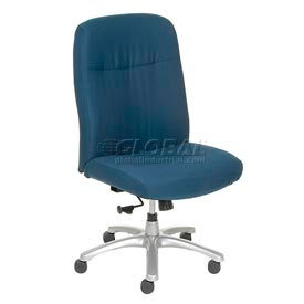 Big and Tall Chair - Fabric - High Back - Blue