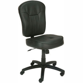 Boss Office Chair - Leather - Mid Back - Black