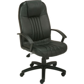 Body Conforming Executive Leather Chair Black