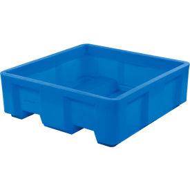 "Dandux Forkliftable Single Wall Skid Bulk Container 512165U - 36"" x 19-1/2"" x 17-1/2"", Blue"