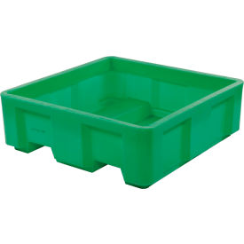 "Dandux Forkliftable Single Wall Skid Bulk Container 51-2141GREEN - 48"" x 48"" x 17-1/2"", Green"