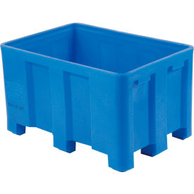 "Dandux Forkliftable Double Wall Skid Bulk Container 512110U - 36"" x 26"" x 16-1/2"", Blue"