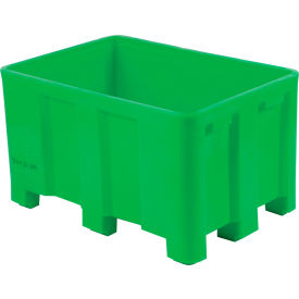 """Dandux Forkliftable Double Wall Skid Bulk Container 51-2126GREEN - 54"""" x 44"""" x 31"""", Green"""