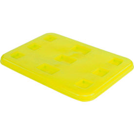 "Dandux Pallet Container Lid 51-2026LY - 37""L x 25""W, Yellow"