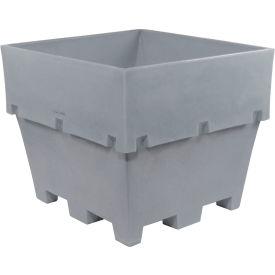 "Dandux Pallet Container 51-2040A - 48""L x 44""W x 40""H Single Wall, Gray"