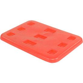 """Dandux Pallet Container Lid 51-2040LR - 48""""L x 44""""W, Red"""