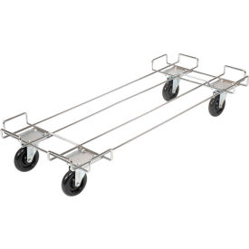 """Wire Rack Accessory-Dolly Base With 5"""" Poly Swivel Casters"""