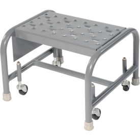 """Perforated 16""""W 1 Step Steel Rolling Ladder 10""""D Top Step"""