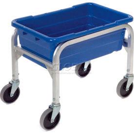 """Aluminum 1 Tote Box Cart, 23""""L x 15-1/2""""W x 19""""H, No Totes"""