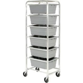 """Aluminum 6 Tote Box Cart, 26""""L x 19""""W x 70""""H, No Totes"""