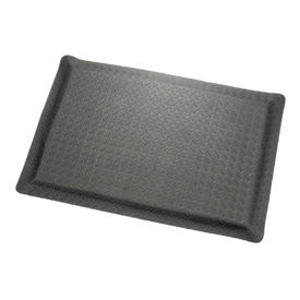 "Diamond Plate Ergonomic Mat 15/16"" Thick 36"" Wide Black Up To 75ft."