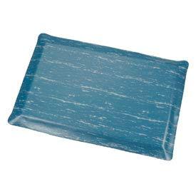 Marbleized Top Ergonomic Mat 3 Foot Wide Cut Blue