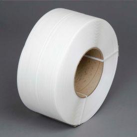 """Polypropylene Strapping 3/8"""" x .021"""" x 12,900' White 8"""" x 8"""" Core"""
