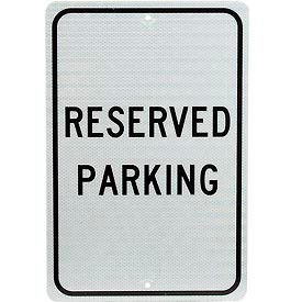 """Aluminum Sign - Reserved Parking - .08"""" Thick, TM5J"""