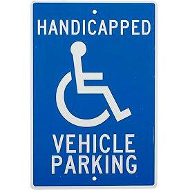 "Aluminum Sign - Handicapped Vehicle Parking - .063"" Thick, TM10H"