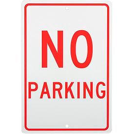 "Aluminum Sign - No Parking - .063"" Thick, TM1H"