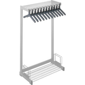 """24""""W Floor Rack With 8 Hangers - Gray"""