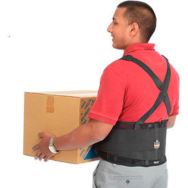 Ergodyne® ProFlex® 100 Economy Back Support W/Rubber Track Webbing, Large, Black