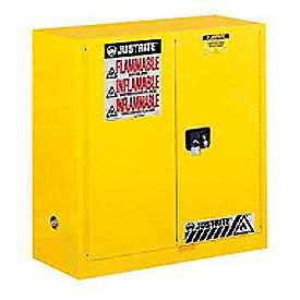 Justrite Flammable Cabinet With Manual Close Double Door 30 Gallon