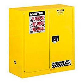 Justrite Flammable Cabinet With Self Close Bi-Fold Door 30 Gallon