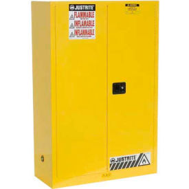 Justrite Flammable Cabinet With Manual Close Double Door 45 Gallon