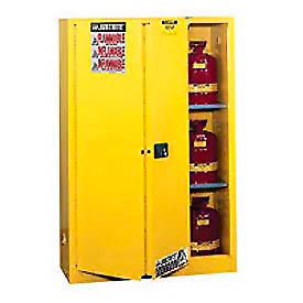 Justrite Flammable Cabinet With Self Close Bi-Fold Door 45 Gallon