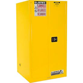 Justrite Flammable Cabinet With Manual Close Double Door 60 Gallon