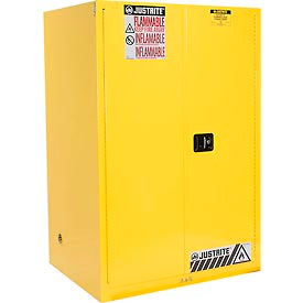 Justrite Flammable Cabinet With Self Close Double Door 90 Gallon